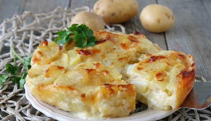 Tarte de pommes de terre au fromage