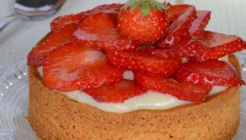 Tartelettes aux fraises sur sablé breton