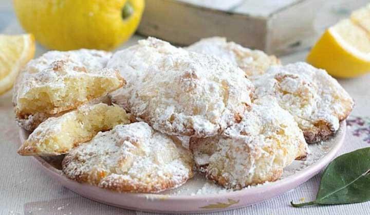 Biscuits Petits nuages au citron sans farin