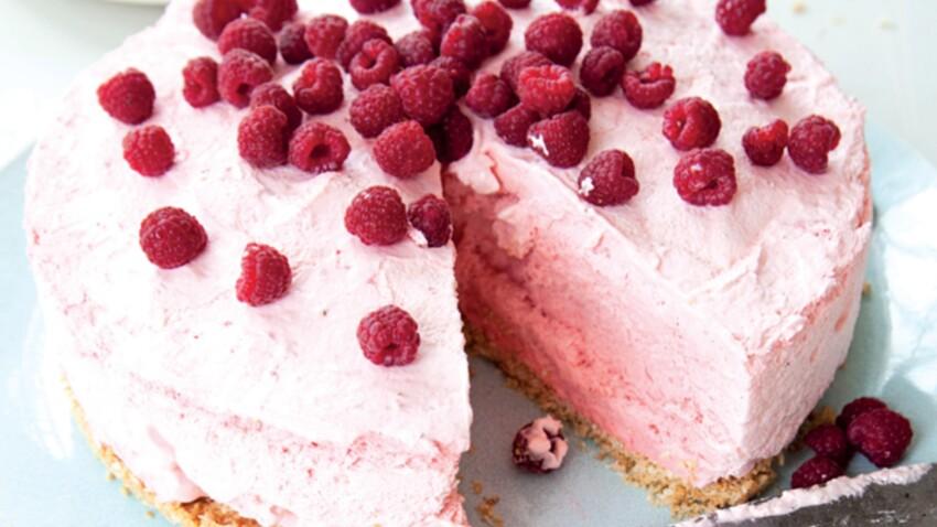 Gâteau mousseux aux fruits rouges Sans cuisson