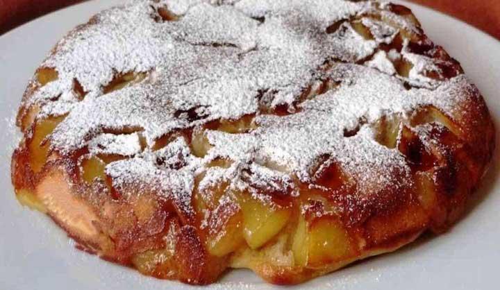 Gâteau aux pommes Moelleux à la poêle