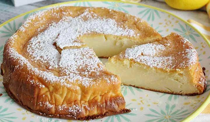 Gâteau au citron crémeux sans farine