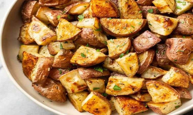 Pommes de terre rouges rôties
