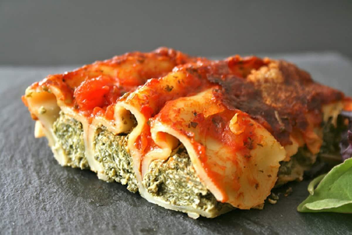Cannelloni ricotta et épinards