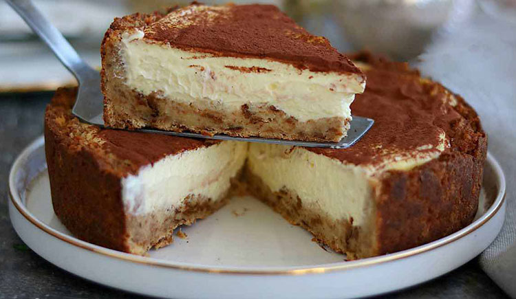 Tarte pandoro à la crème façon tiramisu