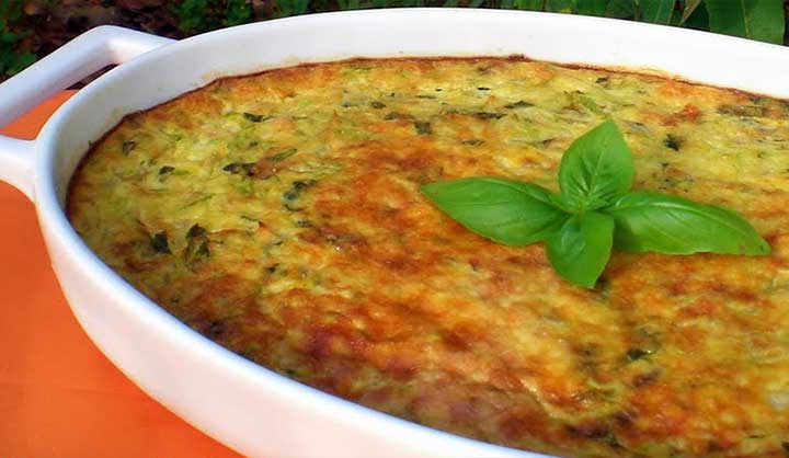 Flan de courgettes au basilic et parmesan