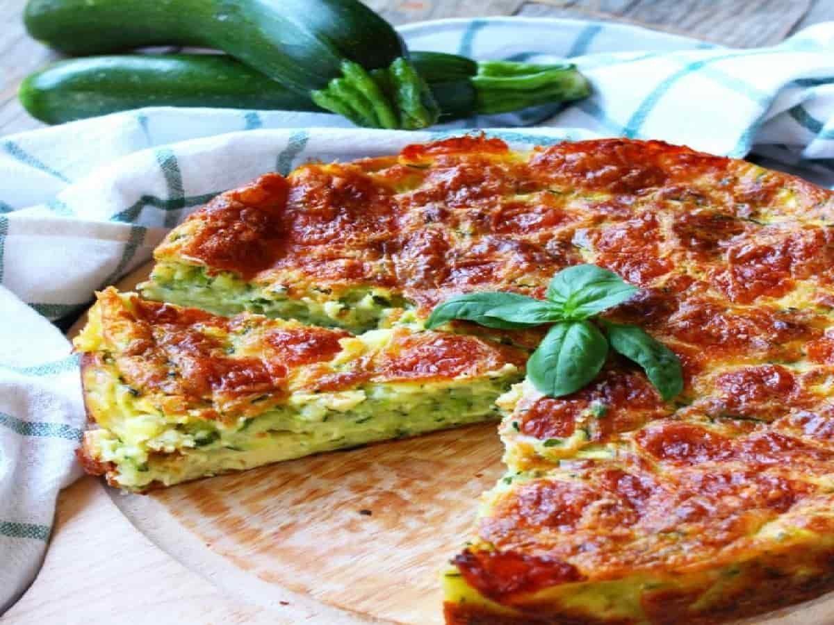 Flan de courgettes et mozzarella, un maximum de goût, de légèreté et de nutrition.