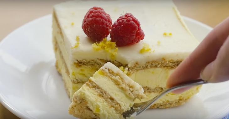 Gâteau frigidaire au citron complètement renversant, un dessert qui ne demande aucune cuisson!