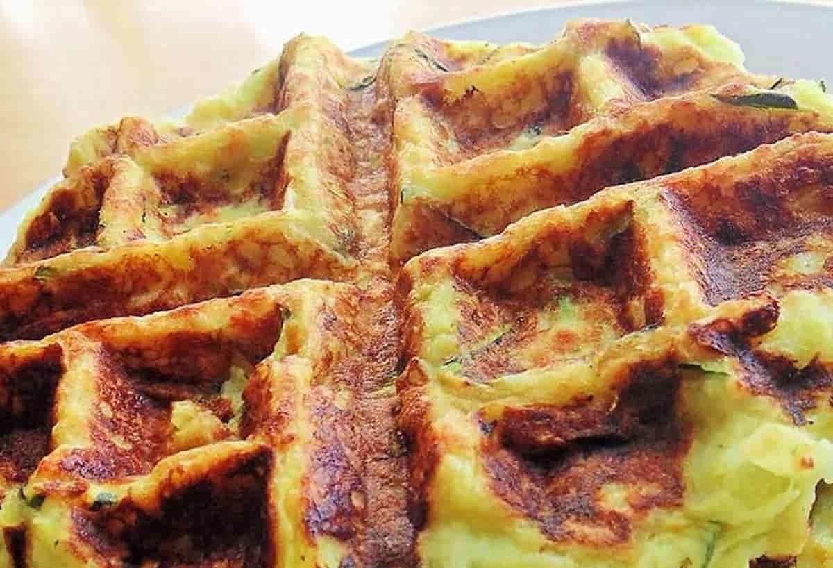 Gaufres de pomme de terre et courgette