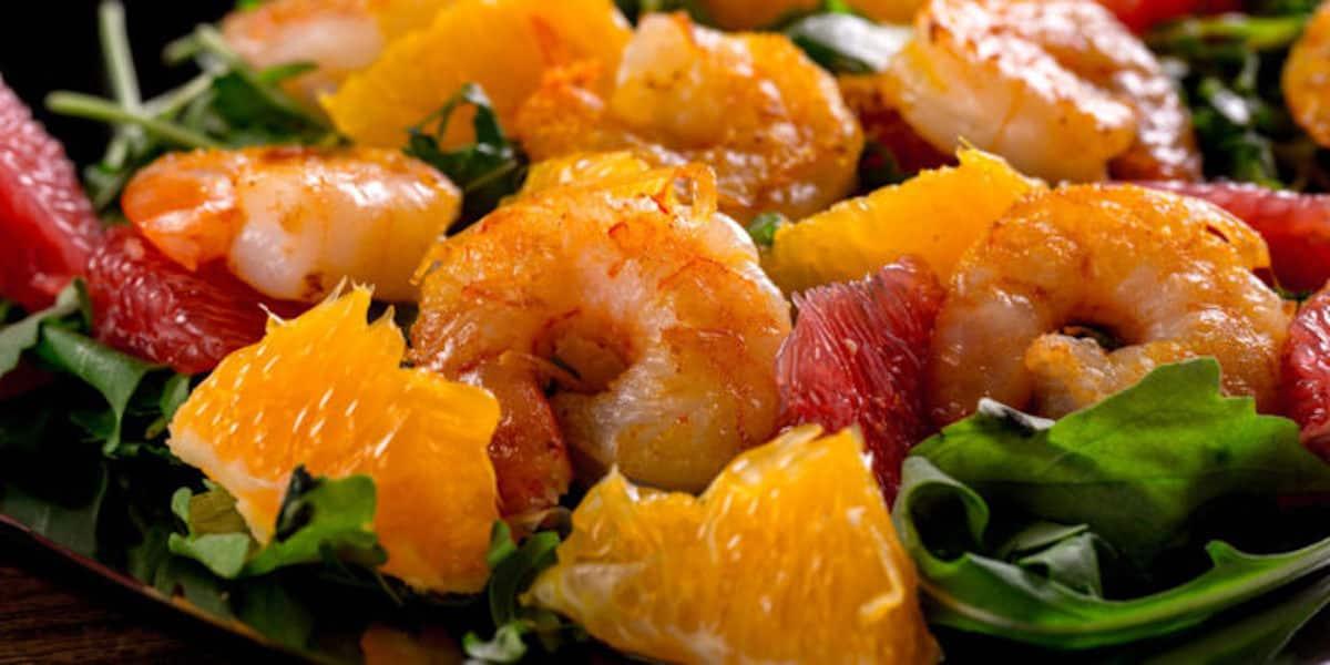 Salade de crevettes à l'orange