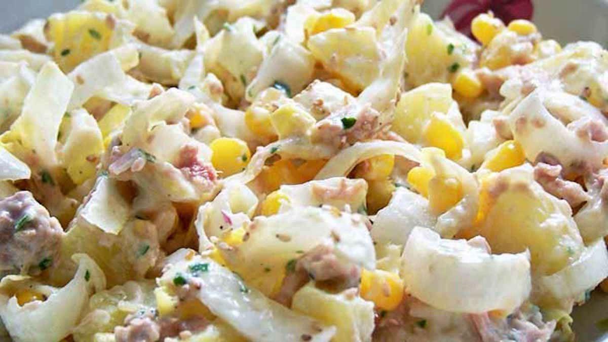 Salade estivale de pommes de terre, endives et thon