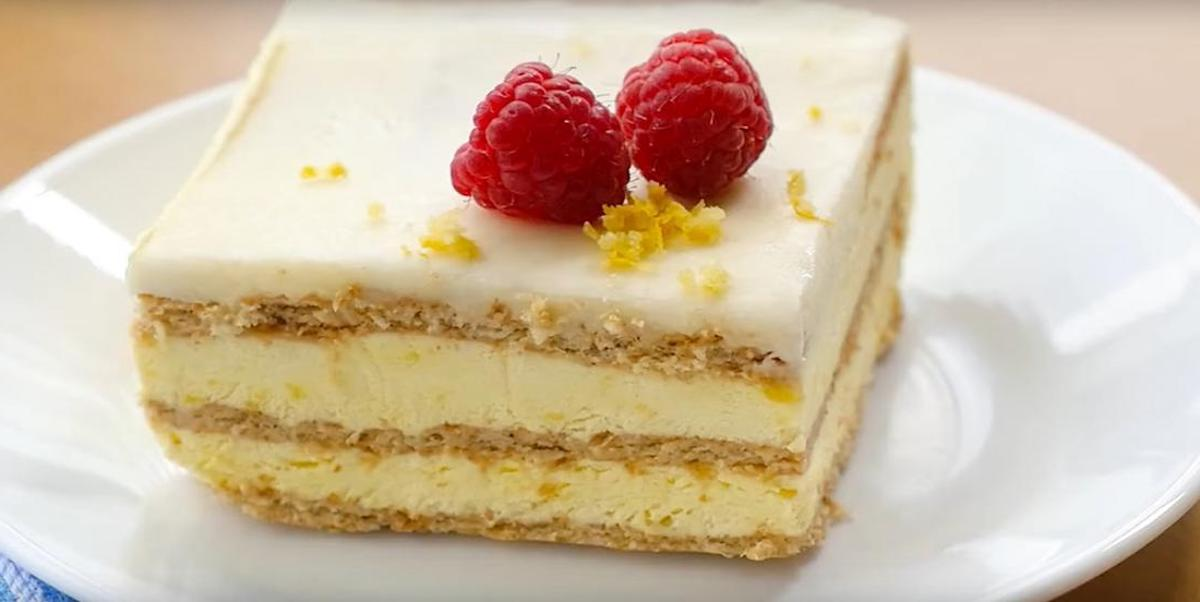 Un gâteau au citron sans cuisson