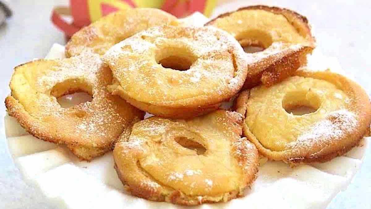 Beignets aux pommes au four de Cyril Lignac