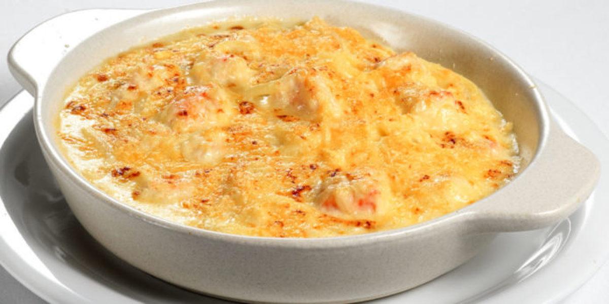 Crevettes gratinées au poireau
