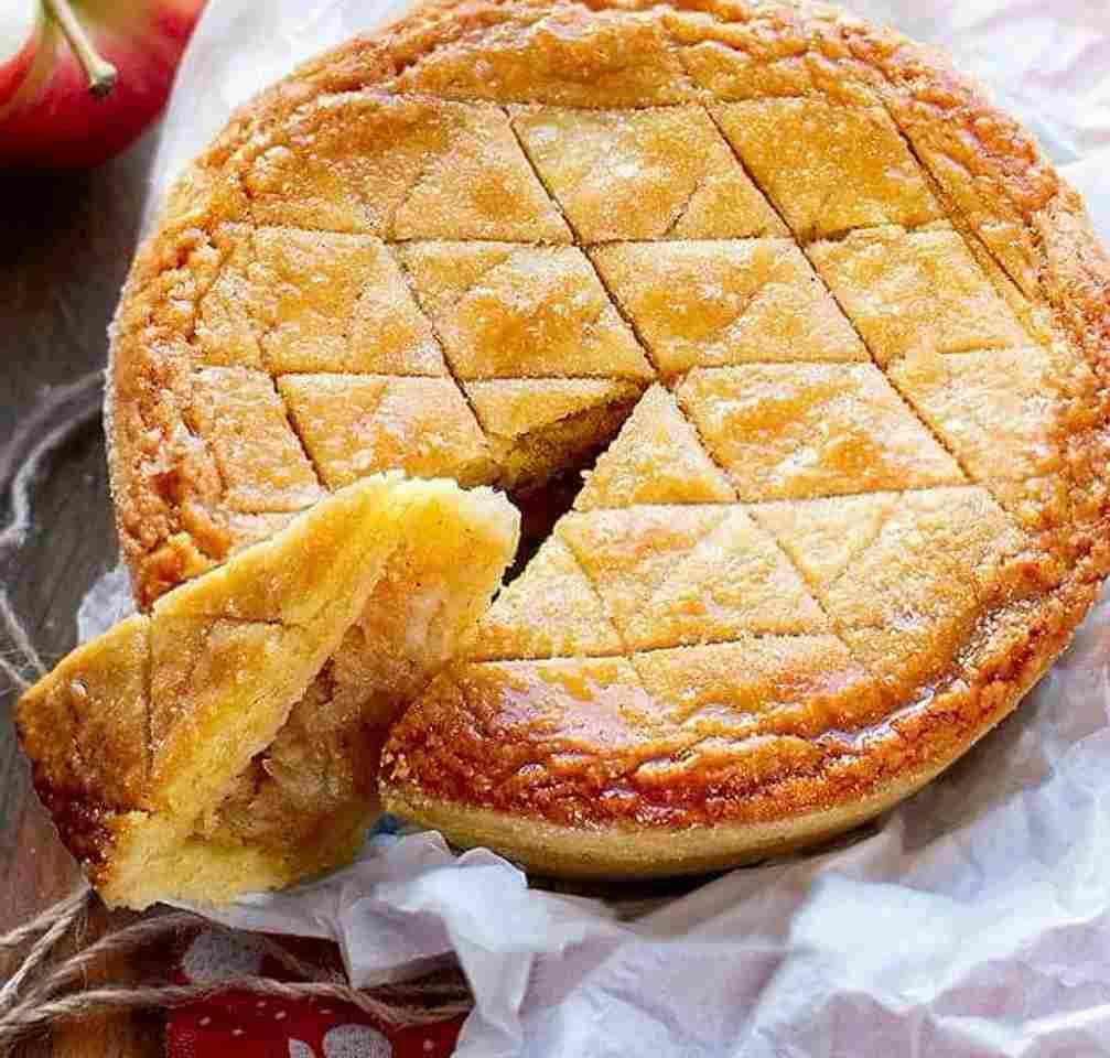 gâteau américain coeur aux pommes